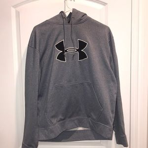 Under Armour Grey hoodie front pouch fleece inside